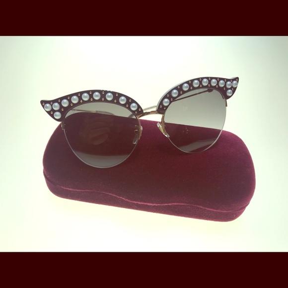 6282e712a59 Gucci GG0212 001 Black Gold Fashion Sunglasses